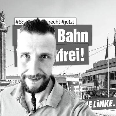 Sebastian Klaus ist Kreisvorsitzender der LINKEN im Rheingau Taunus Kreis